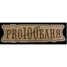 """Табличка для бани """"PRO100баня"""""""