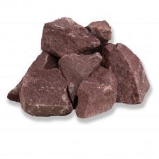 Камни для бани Малиновый кварцит колотый 20кг