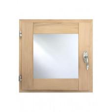 Окно 40х40 для бани со стеклопакетом (ольха)