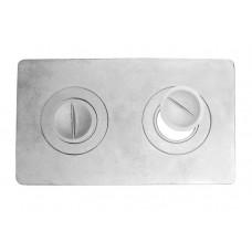 Плита 2х-конфорочная П2-1 (Б) 585х340