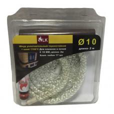 Шнур уплотнительный термостойкий (2 м/п)  10 мм + клей 17мл