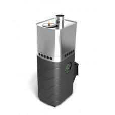 Печь банная Бирюса Carbon ДА ЗК антрацит