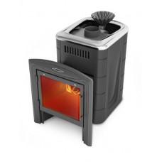 Печь банная Гейзер Мини 2016 Carbon Витра ЗК антрацит