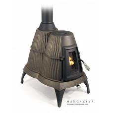 Отопительная печь Мангазея, чёрная бронза