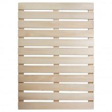 Решетка на пол 50х100 см для бани и сауны (липа) арт.03703