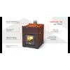Отопительная теплоаккумулирующая печь Теплодар Мильна 100