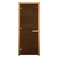Дверь для бани стеклянная 1900х700 (бронза, 3 петли, 8мм)